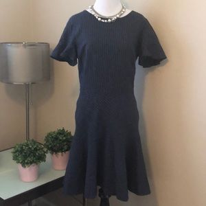 Banana Republic Navy Pinstripe Dress